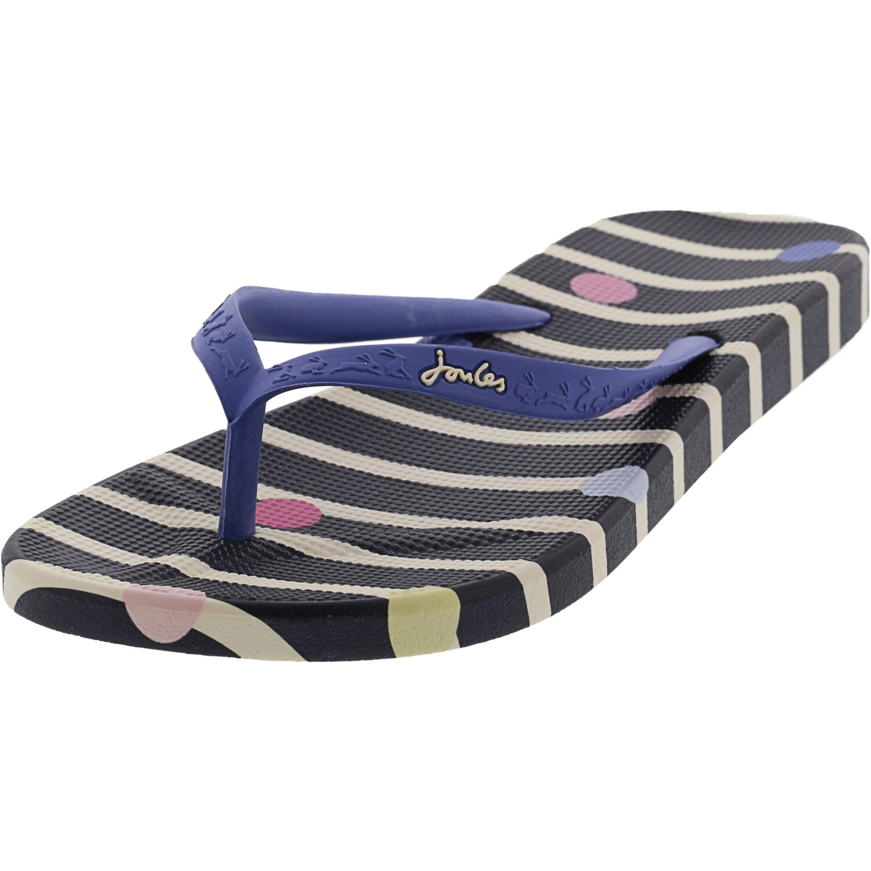 Joules Women's Flip Flops Navy Stripe Sandal - 6M