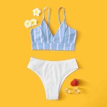 Bañador bikini de niñas de canale de rayas