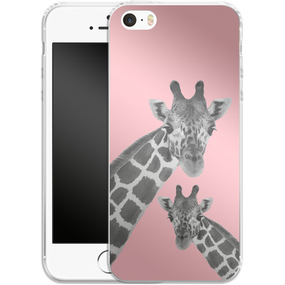Apple iPhone 5s Silikon Handyhuelle - Giraffe Pride 2 von Mukta Lata Barua