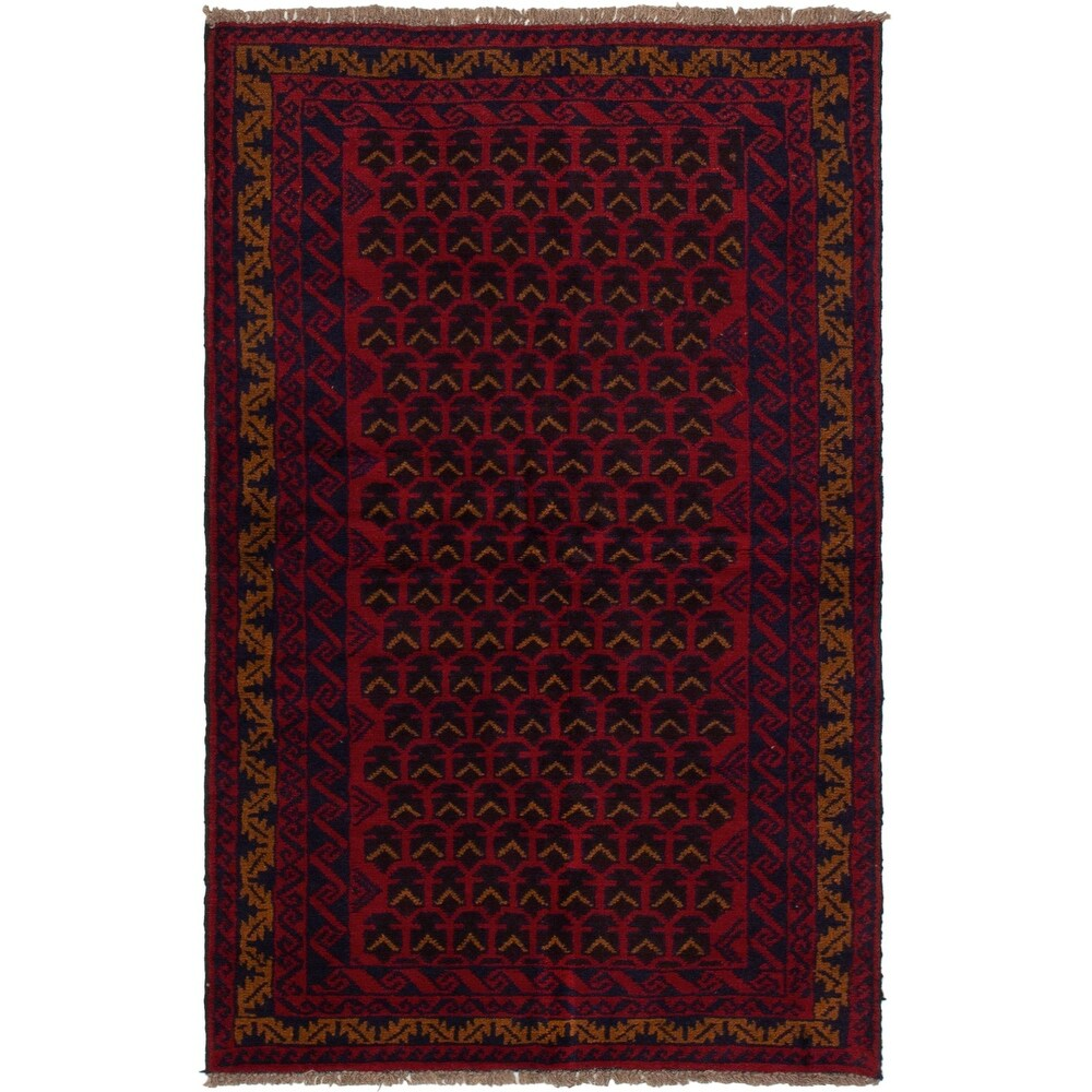 ECARPETGALLERY Hand-knotted Teimani Red Wool Rug - 3'5 x 6'0 (Red - 3'5 x 6'0)