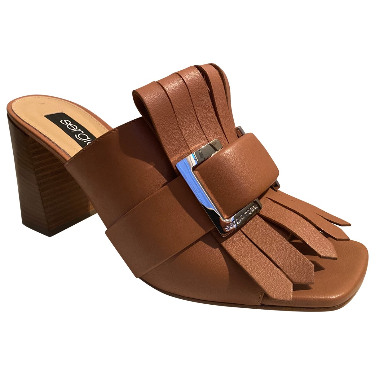 Sergio Rossi \N Brown Leather Sandals for Women 39.5 EU