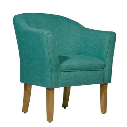 BM194026 Fabric Upholstered Wooden Accent Chair with Curved Back  Green and