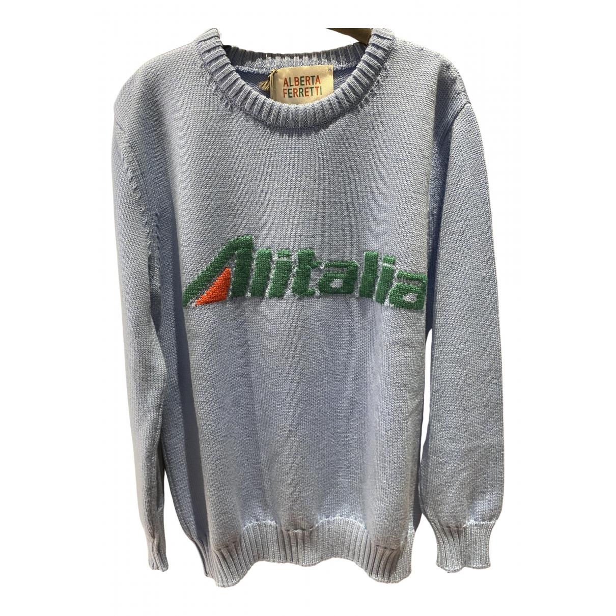 Alberta Ferretti \N Turquoise Wool Knitwear for Women L International