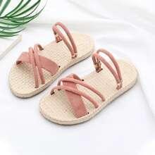 Girls Cross Strap Two Way Wear Sandals