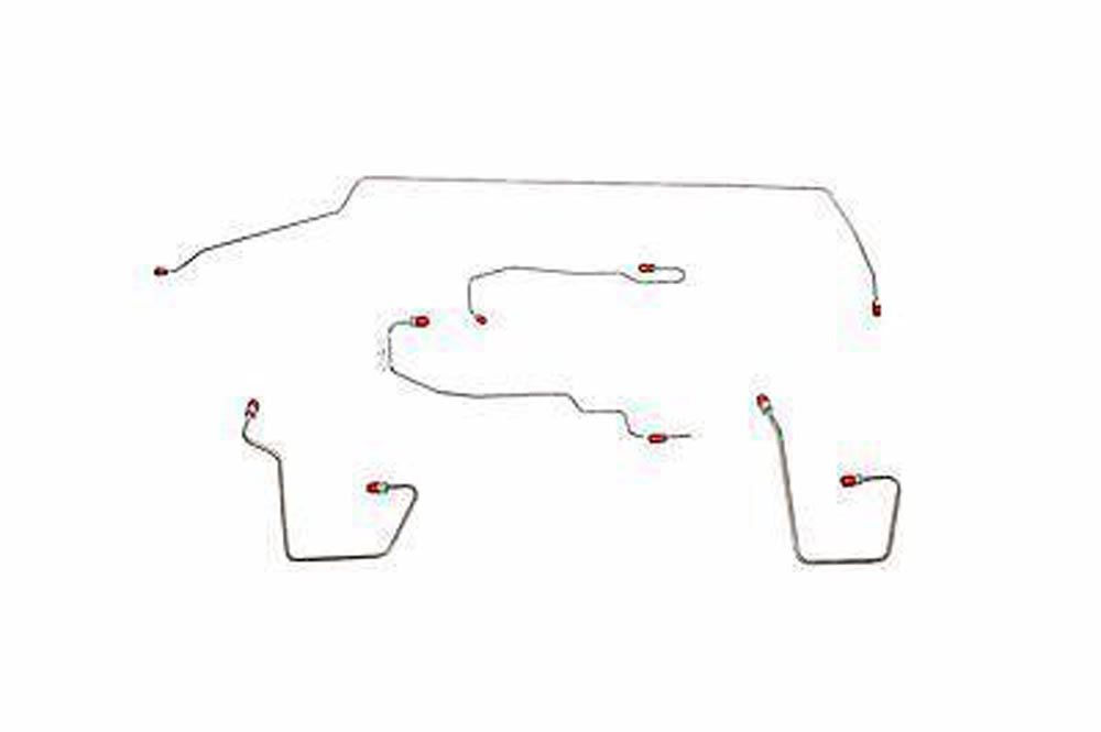 Fine Lines CBK0108SS Complete Brake Line Kit For 00-07 Ford Focus AWABS Traction Control Complete Stainless