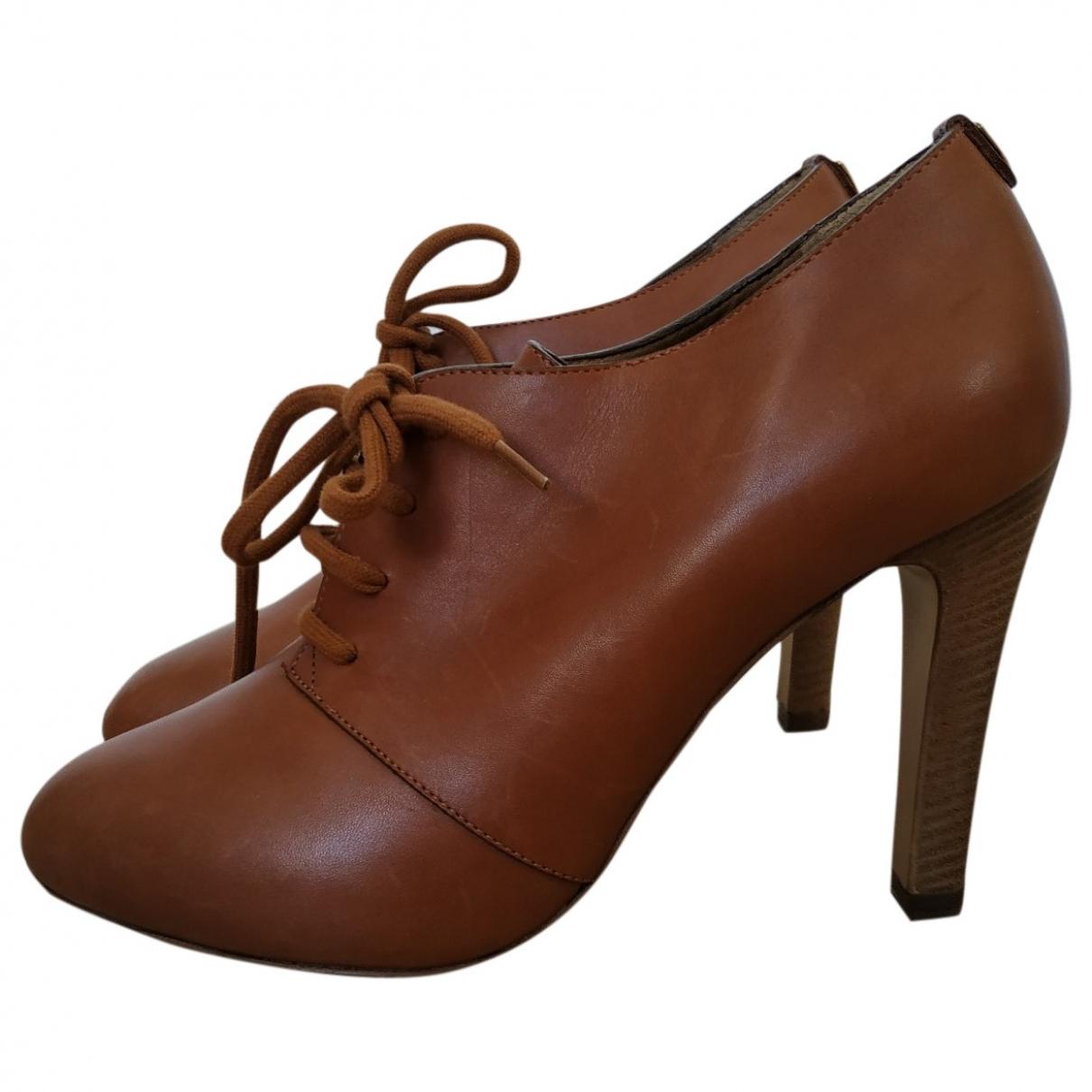 Chloe - Boots   pour femme en cuir - camel