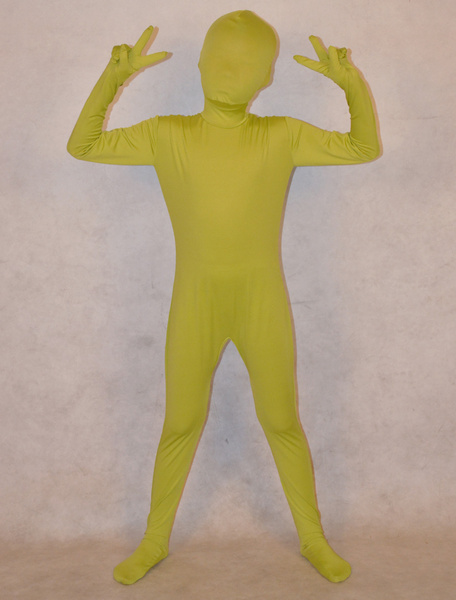 Milanoo Halloween Sage Unisex Lycra Spandex Cool Unicolor Zentai Suits For Kids Halloween