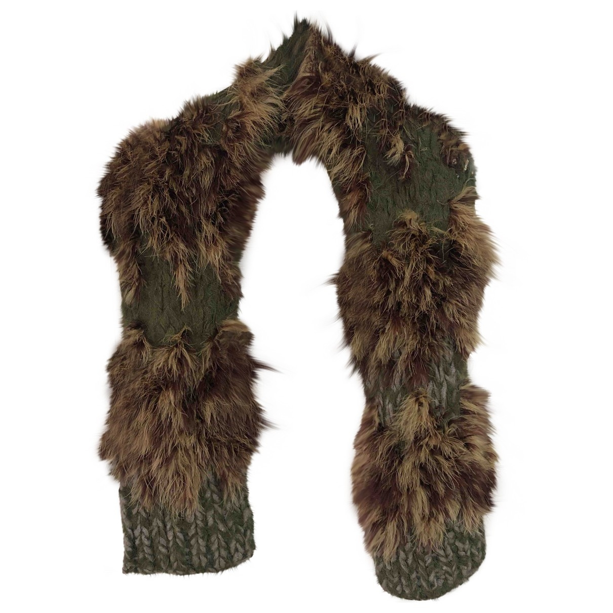 Dries Van Noten - Foulard   pour femme en laine - vert