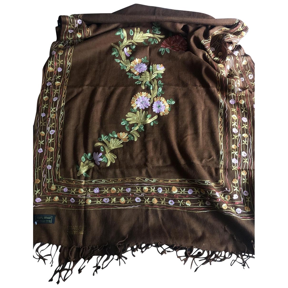 Emmanuelle Khanh \N Brown Wool scarf for Women \N