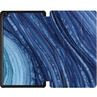 Amazon Fire 7 (2017) Tablet Smart Case - Blue Agate Crystal Slice von Becky Starsmore