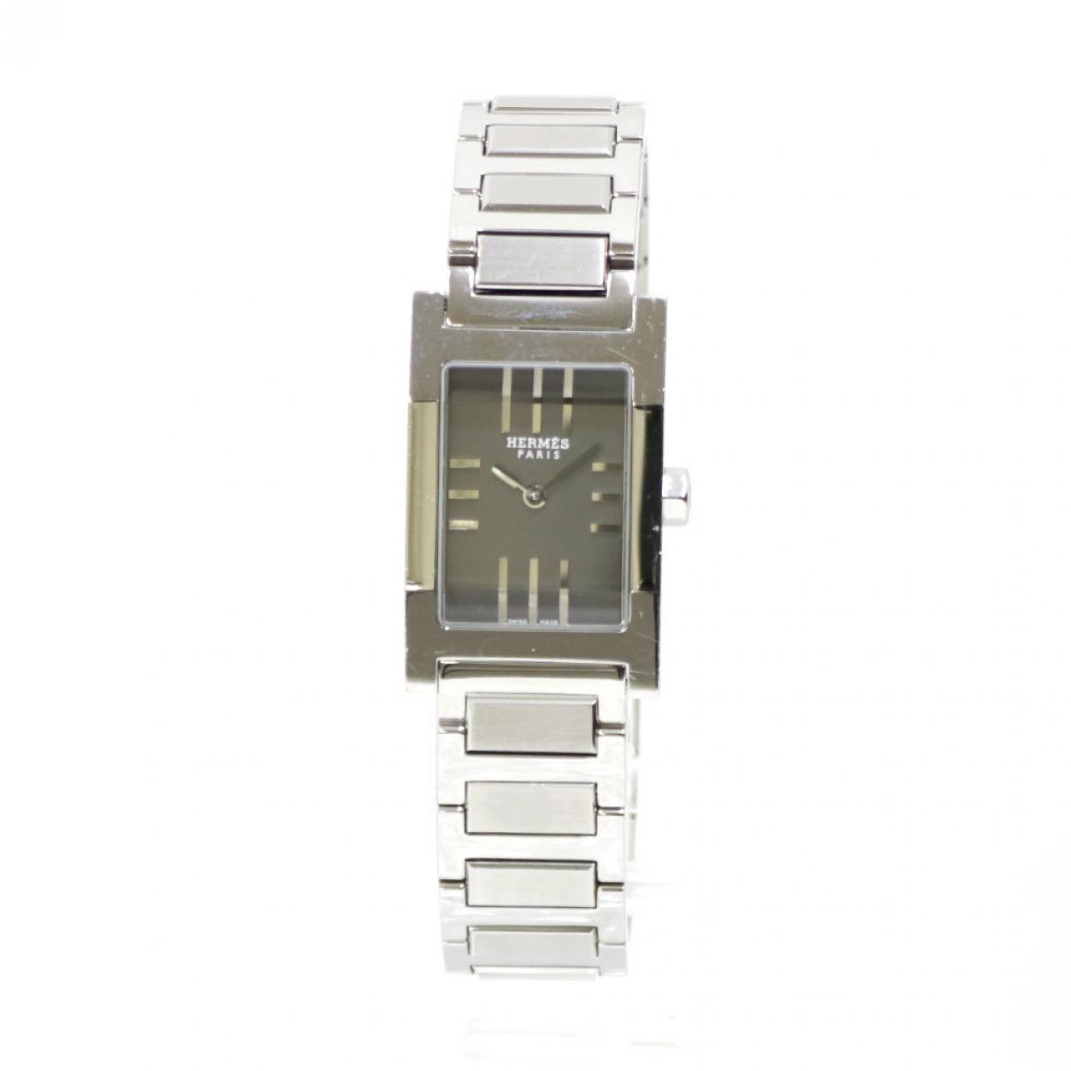 Hermès Tandem Silver Steel watch for Women \N