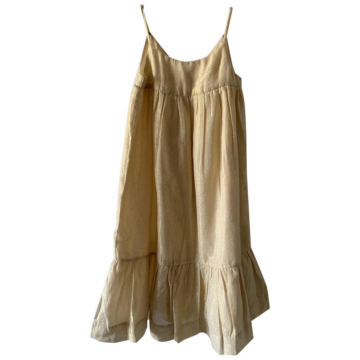 Bonpoint - Robe    pour enfant en coton - dore