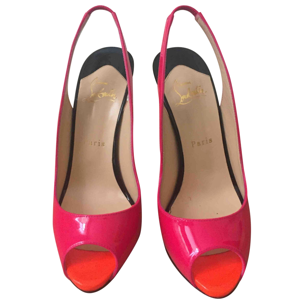 Christian Louboutin Private Number Pumps in  Rosa Lackleder