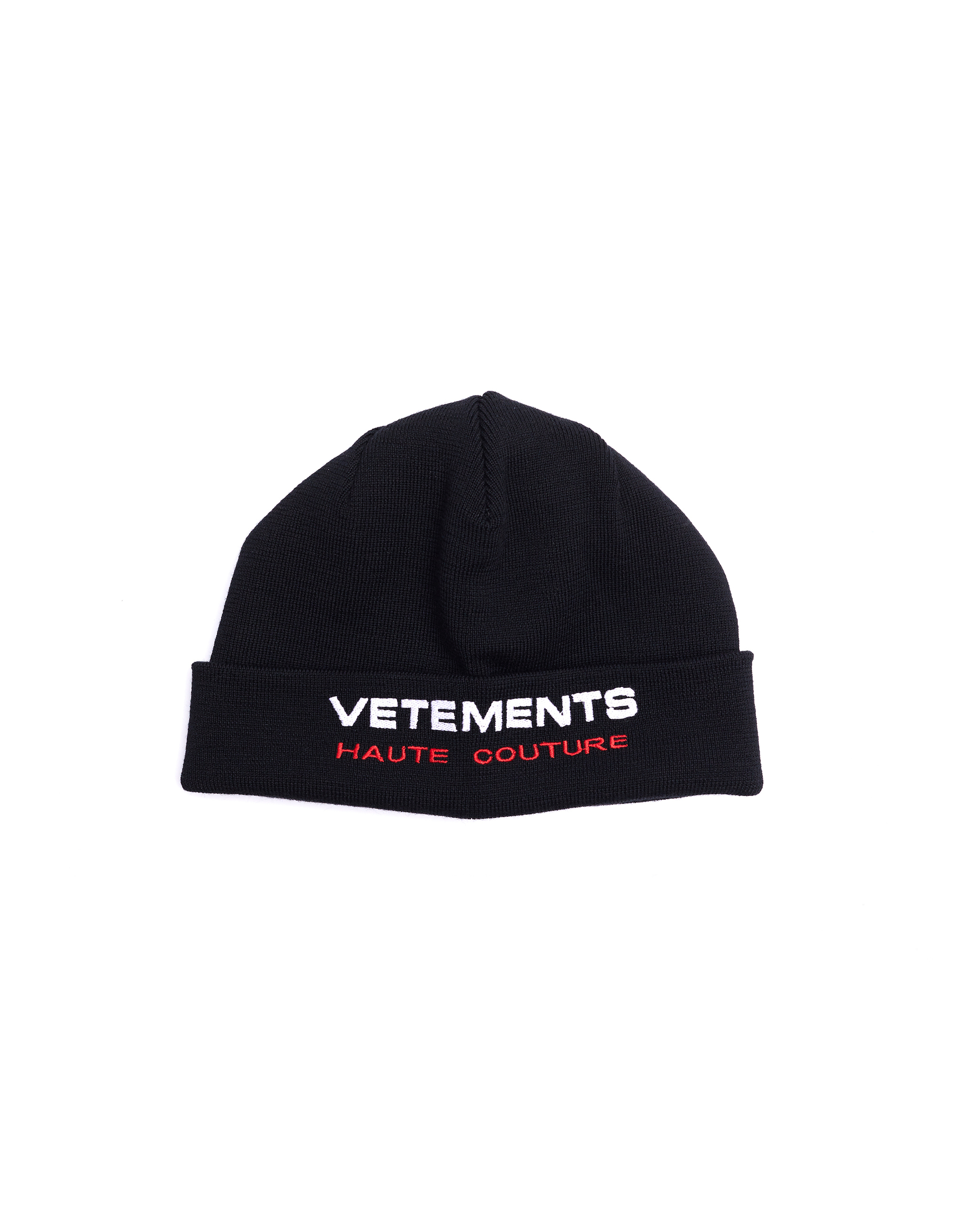 Vetements Haute Couture Embroidered Wool Hat