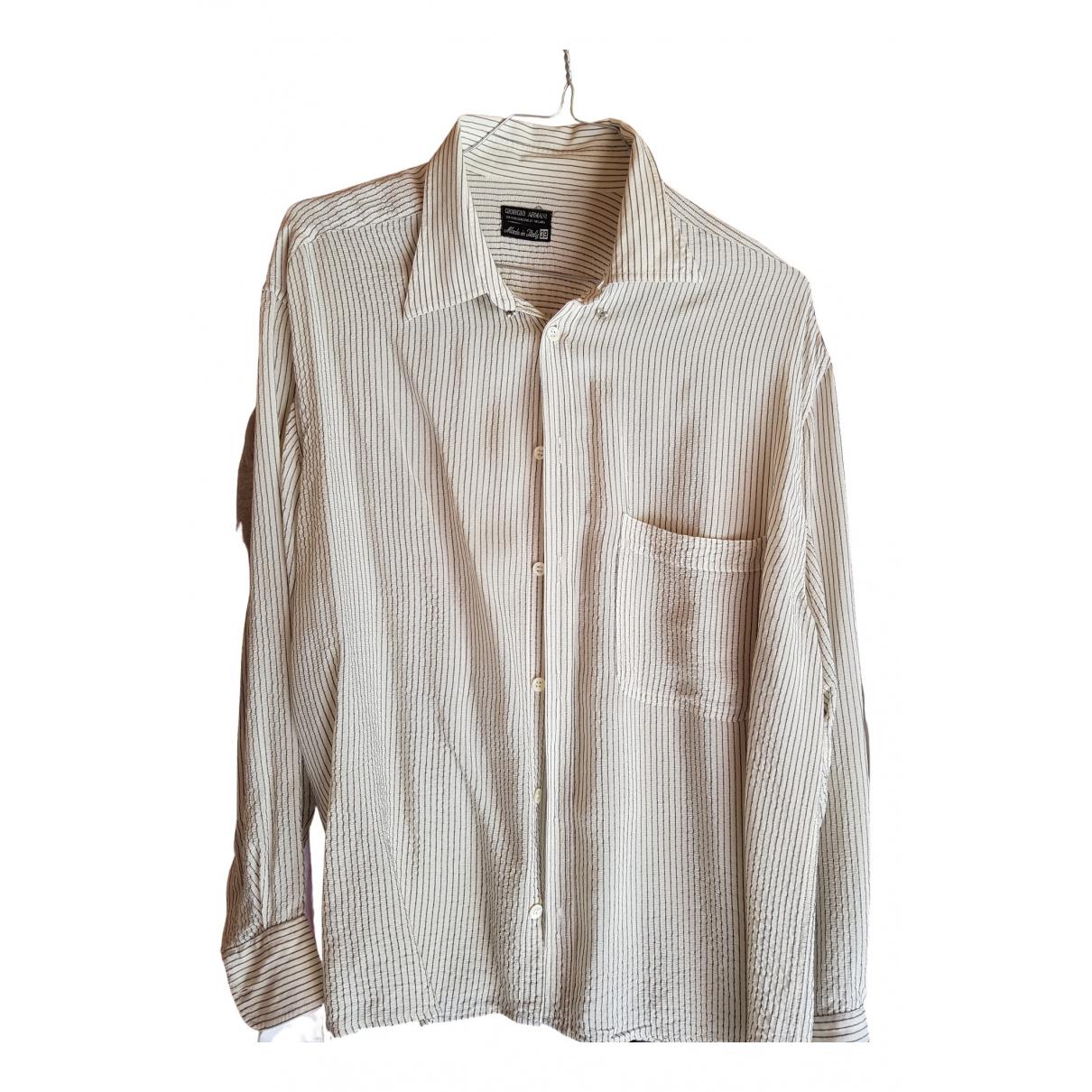 Giorgio Armani - Top   pour femme en coton - blanc