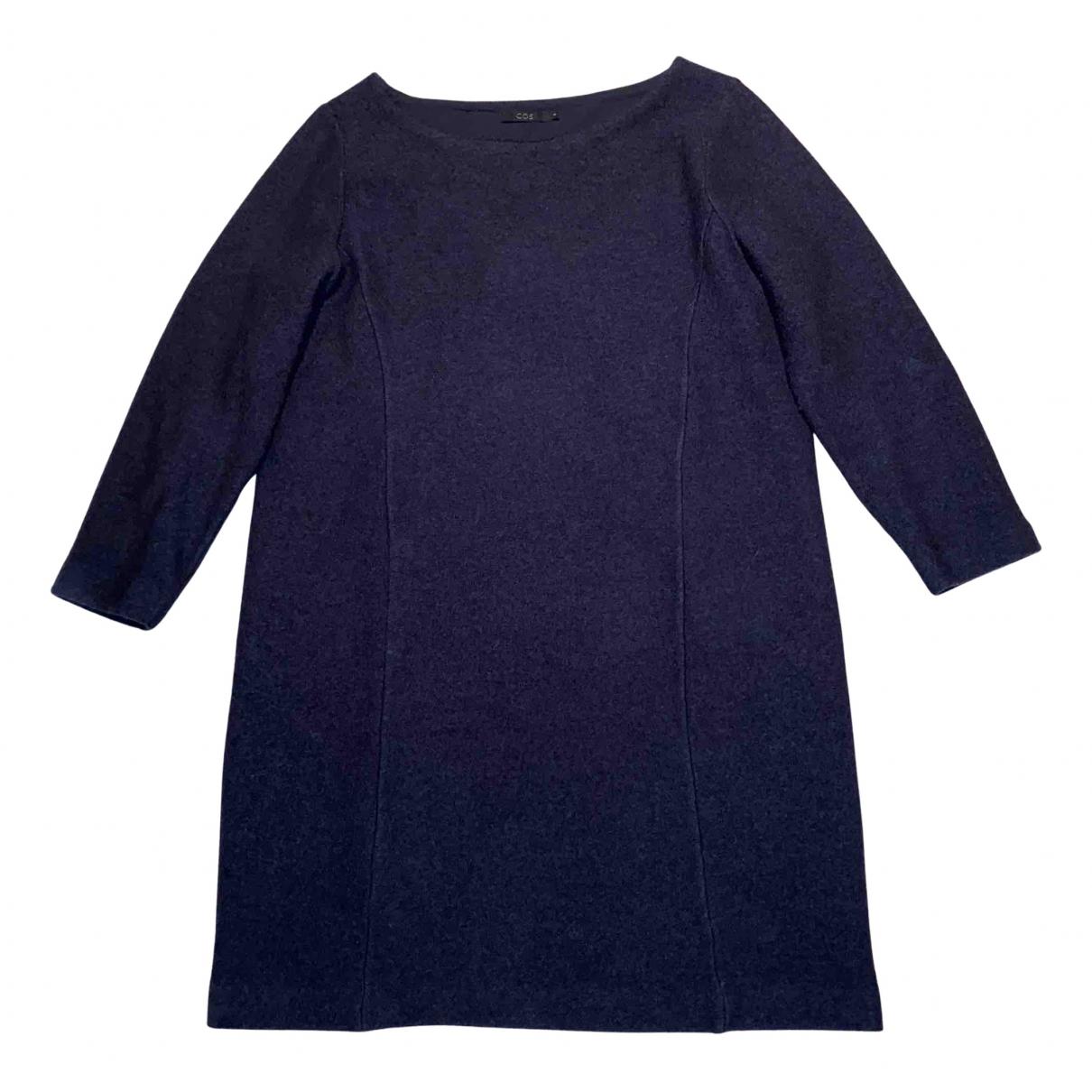 Cos \N Kleid in  Marine Wolle