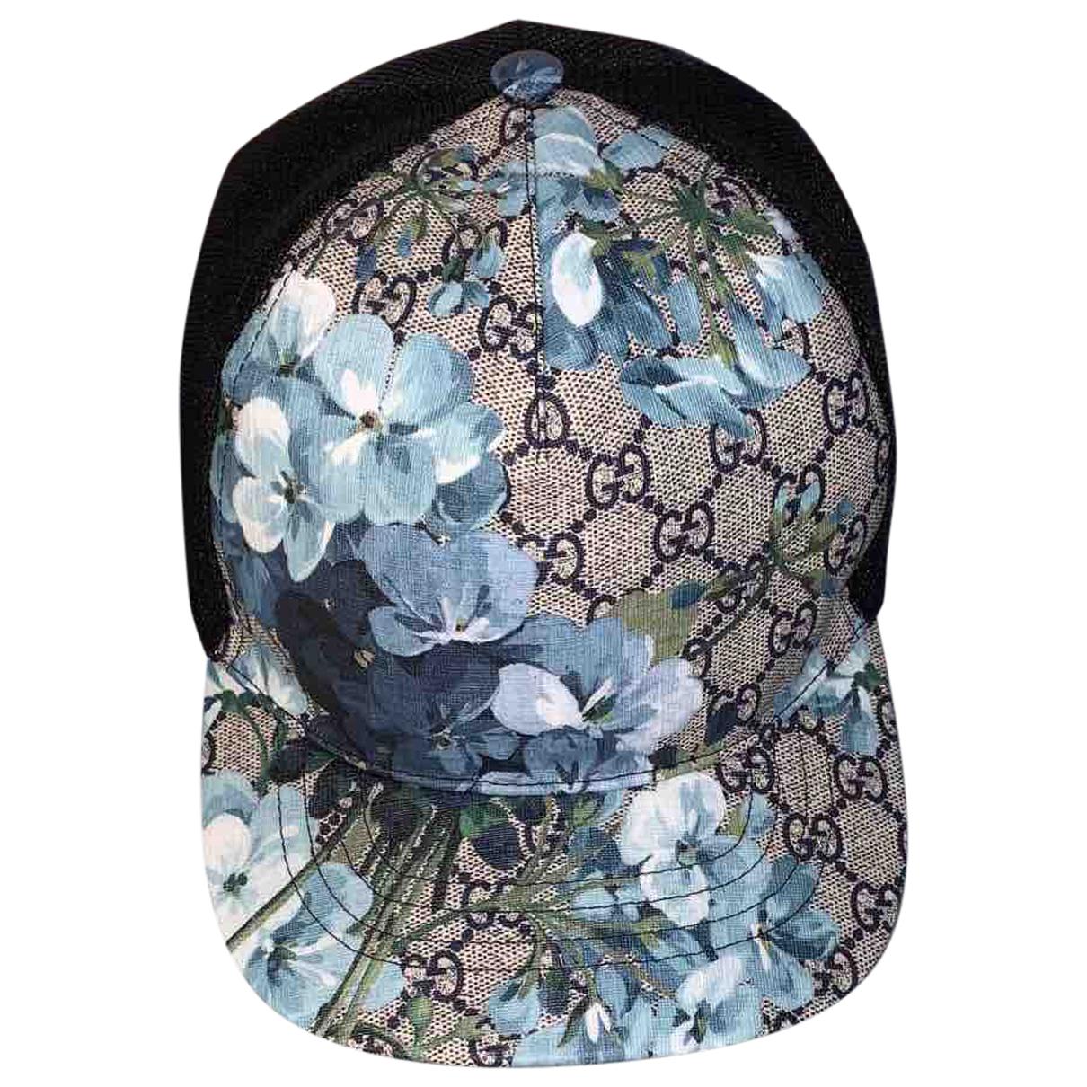 Gucci - Chapeau & Bonnets   pour homme en toile - bleu