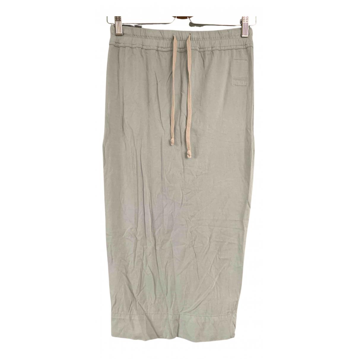 Rick Owens Drkshdw - Jupe   pour femme en coton - elasthane - gris