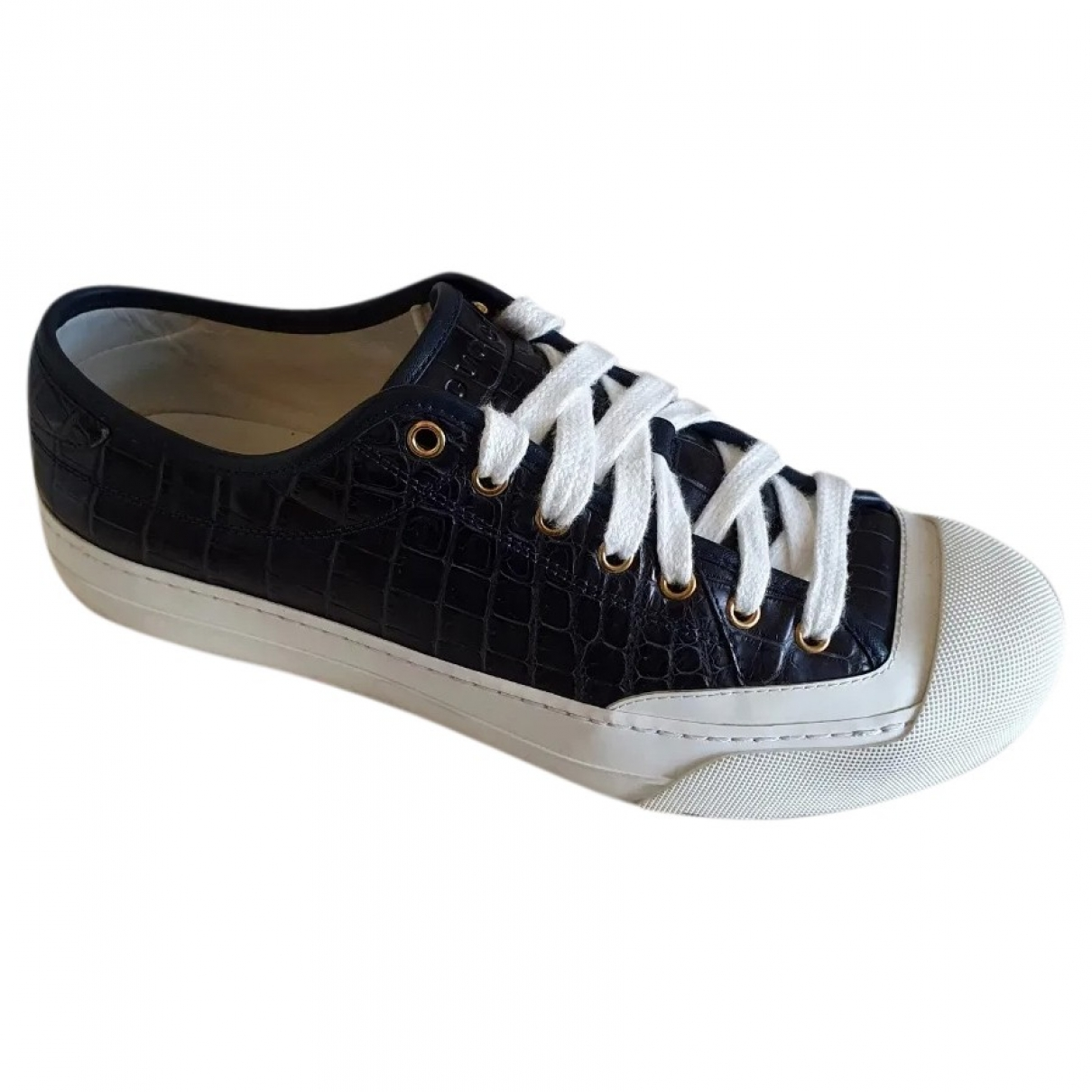 Gucci \N Black Leather Trainers for Men 44 EU