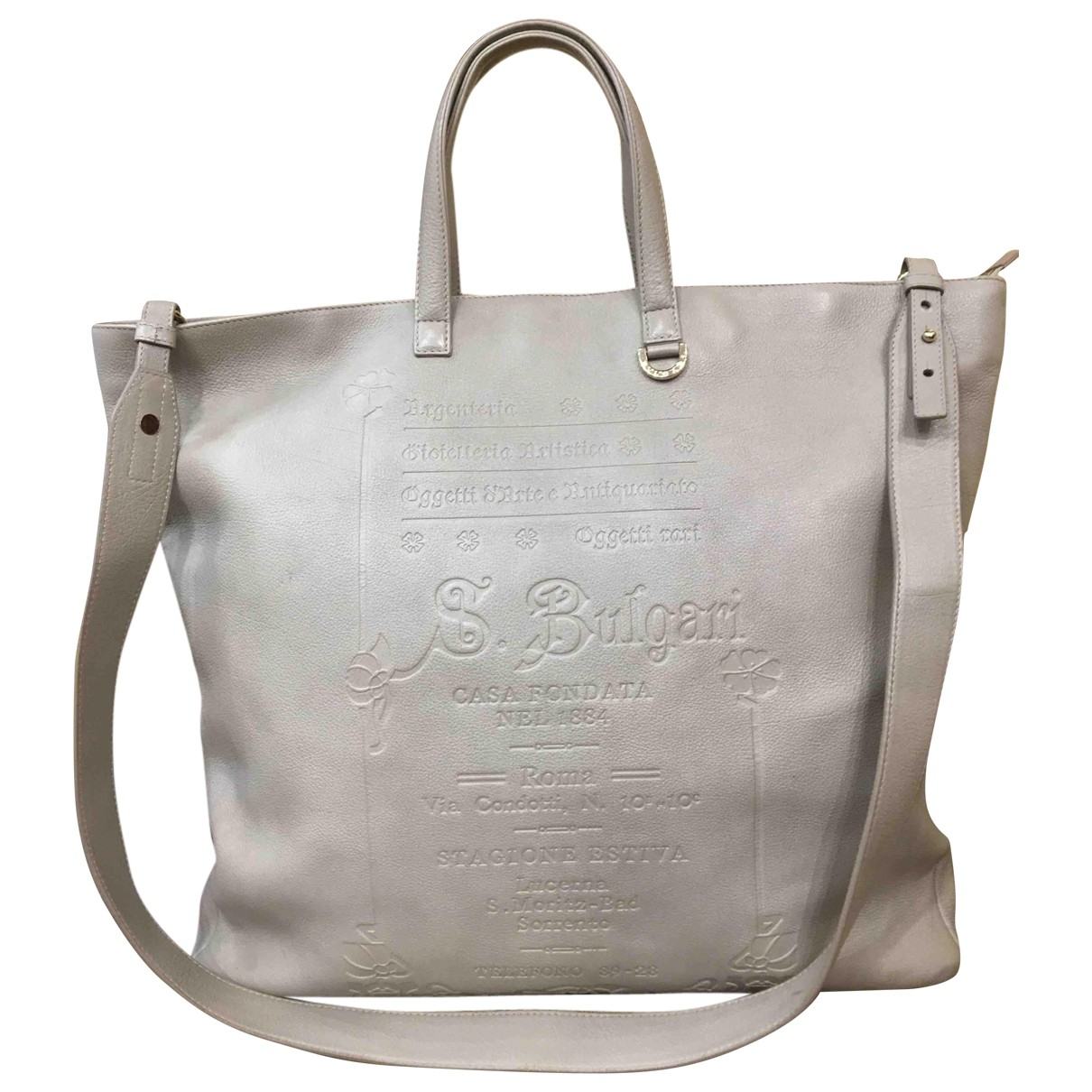 Bvlgari \N Handtasche in  Grau Leder