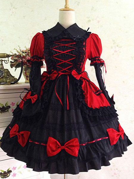 Milanoo Classic Lolita OP Dress Pink Ruffles Lolita One Piece Dresses