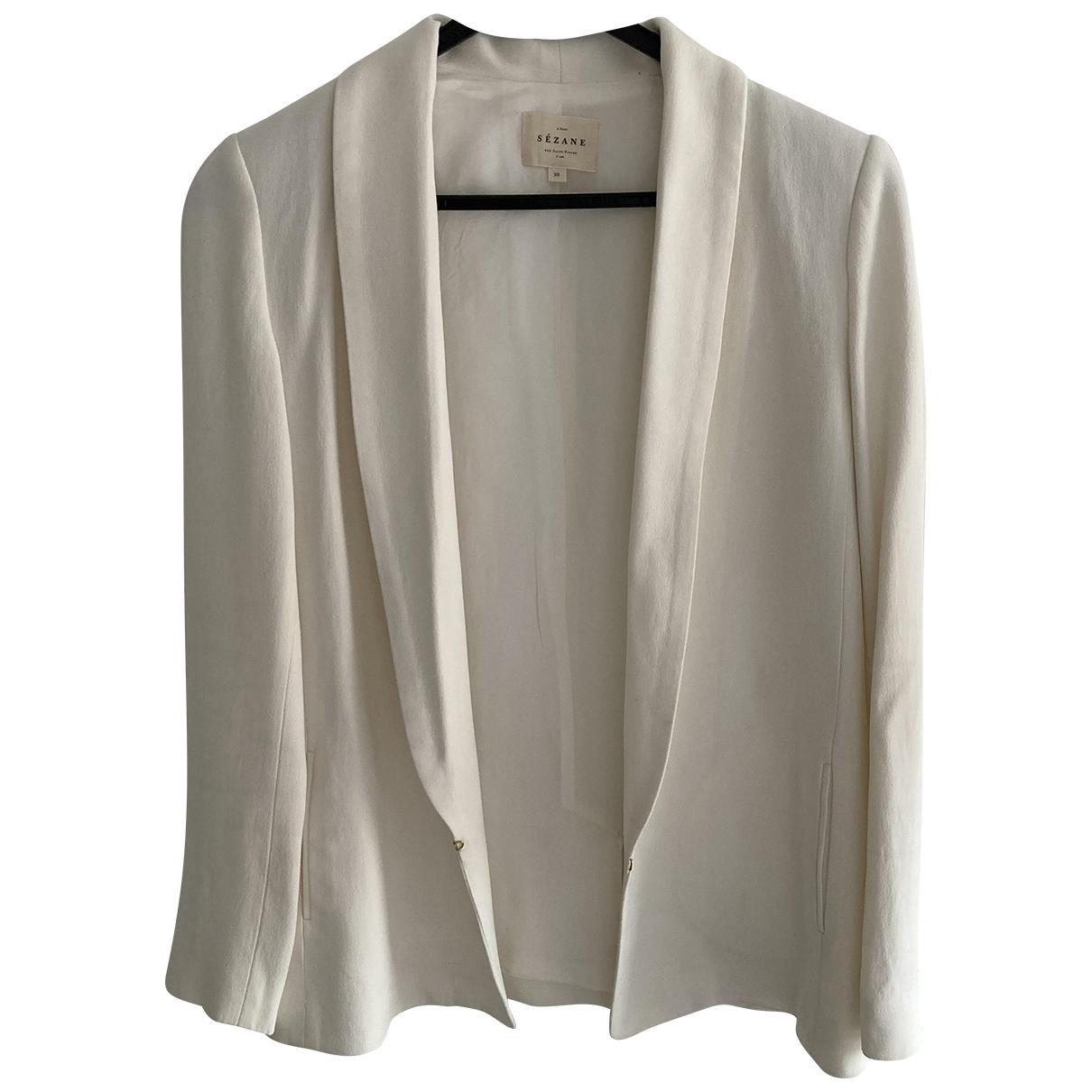 Sézane Spring Summer 2019 White jacket for Women 38 FR