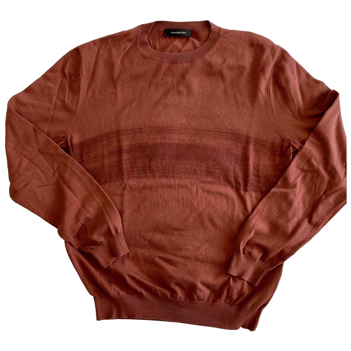 Ermenegildo Zegna \N Pullover.Westen.Sweatshirts  in  Bordeauxrot Baumwolle