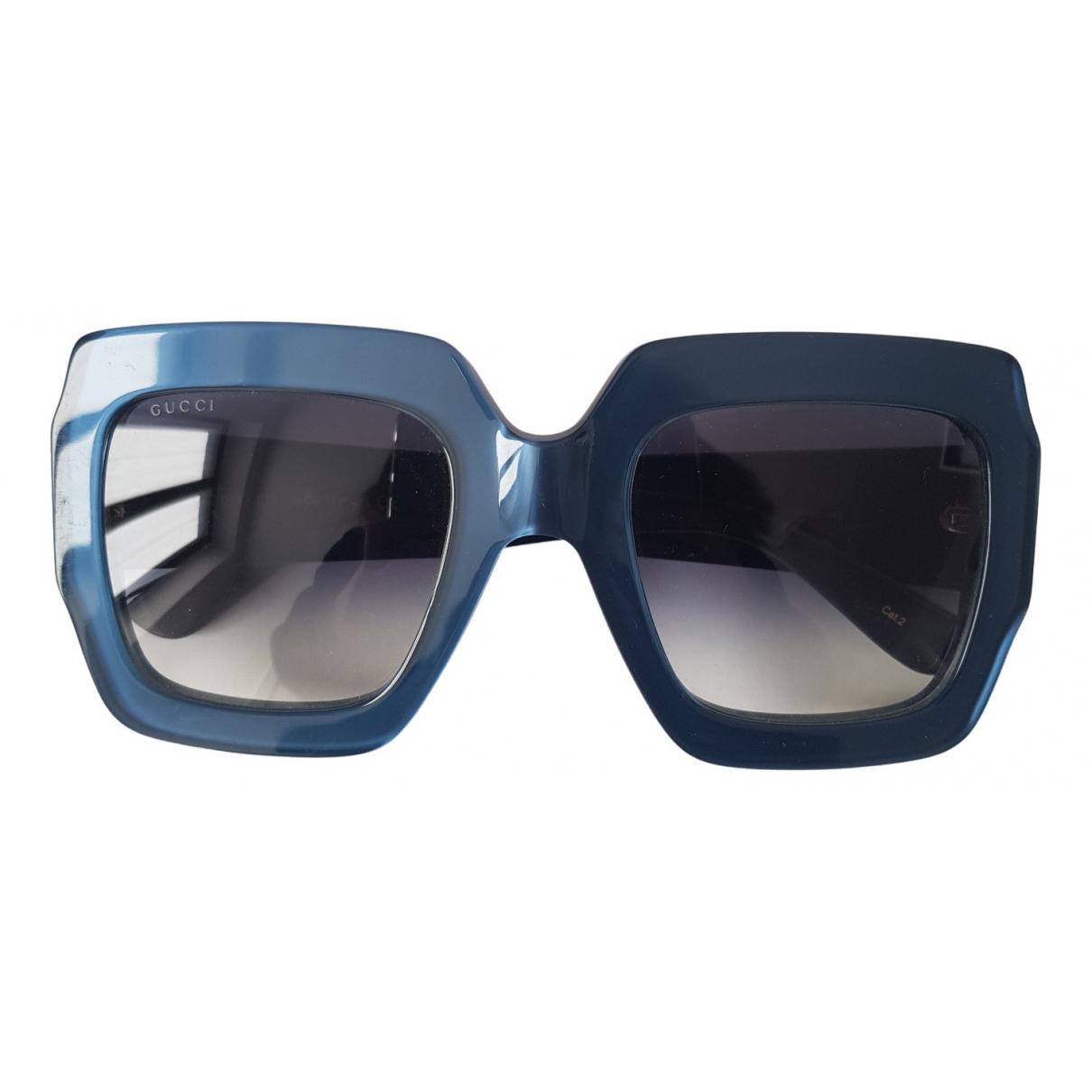 Gucci - Lunettes   pour femme - bleu