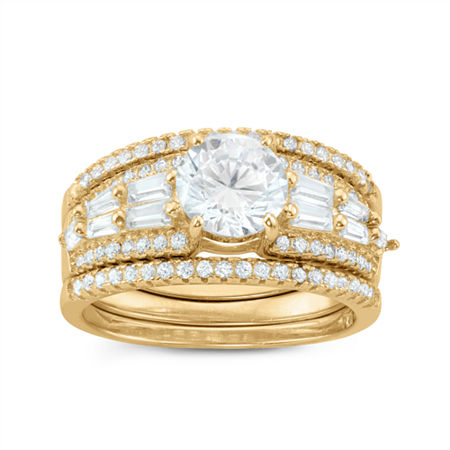 Womens 2 CT. T.W. White Cubic Zirconia Round Bridal Set, 8 , No Color Family