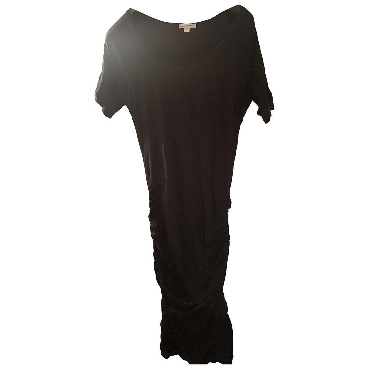 James Perse \N Kleid in  Schwarz Baumwolle