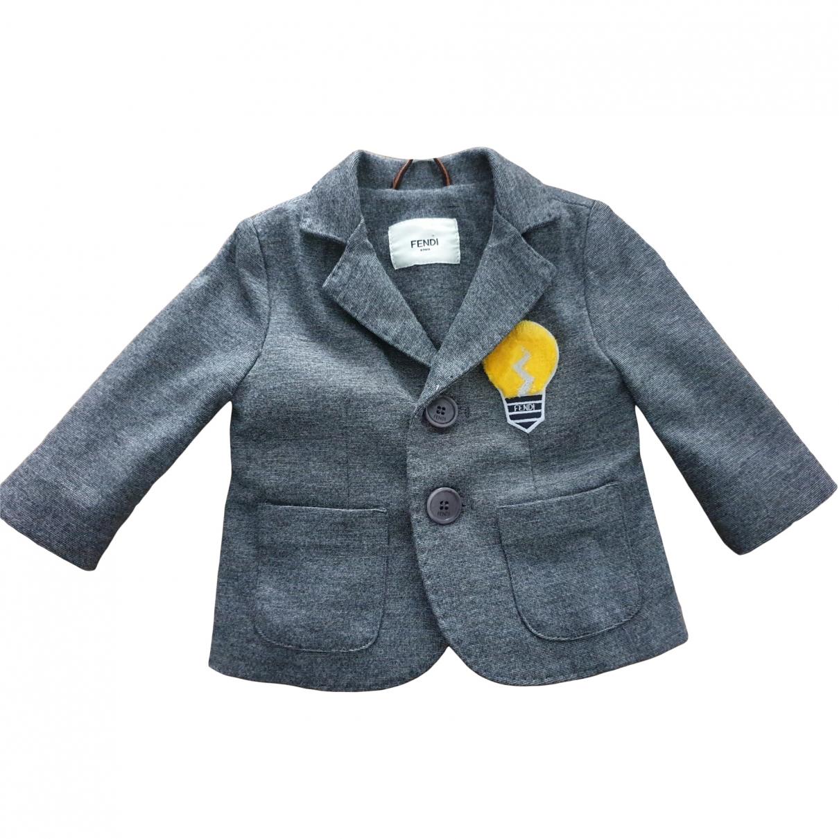 Fendi \N Grey jacket & coat for Kids 3 months - up to 60cm FR