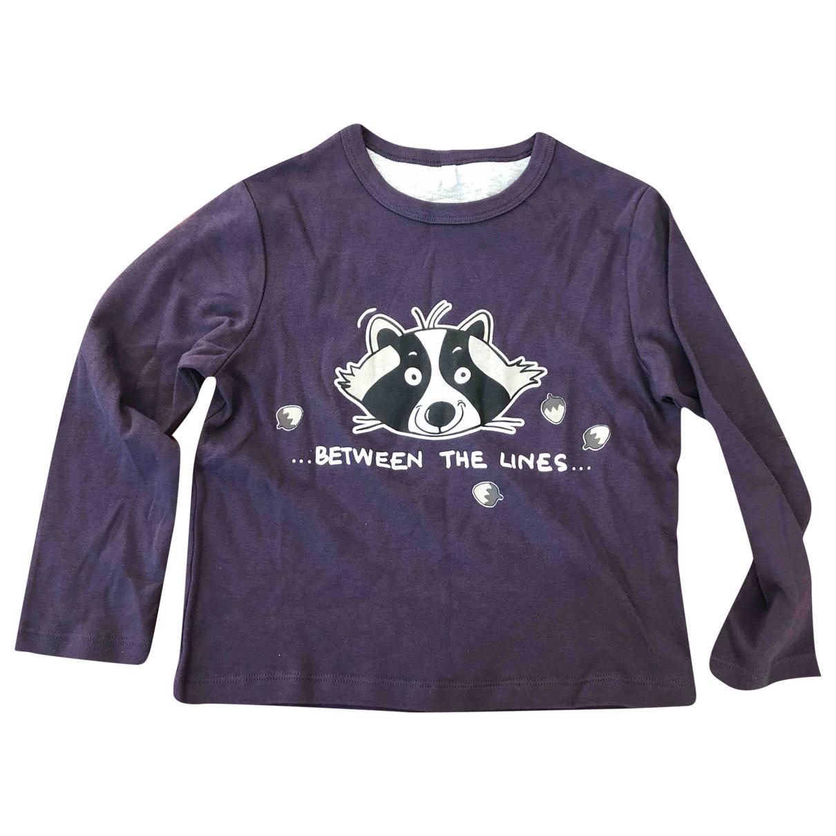 Benetton - Top   pour enfant en coton - violet