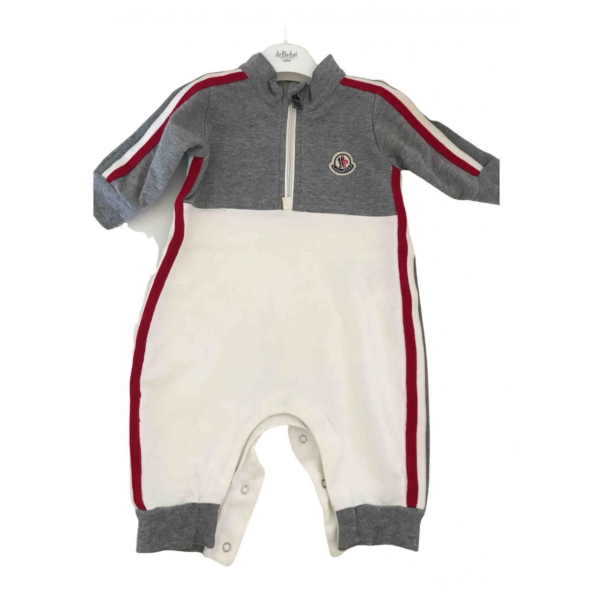 Moncler - Les ensembles   pour enfant en coton - blanc