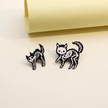 2 piezas broche con animal