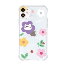 Cartoon Graphic Clear iPhone Case