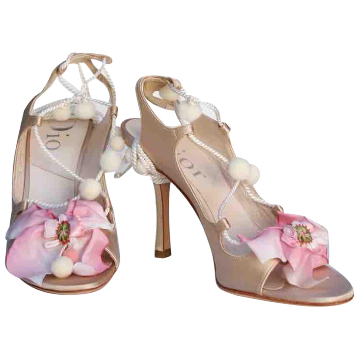 Dior \N Beige Cloth Sandals for Women 37.5 IT