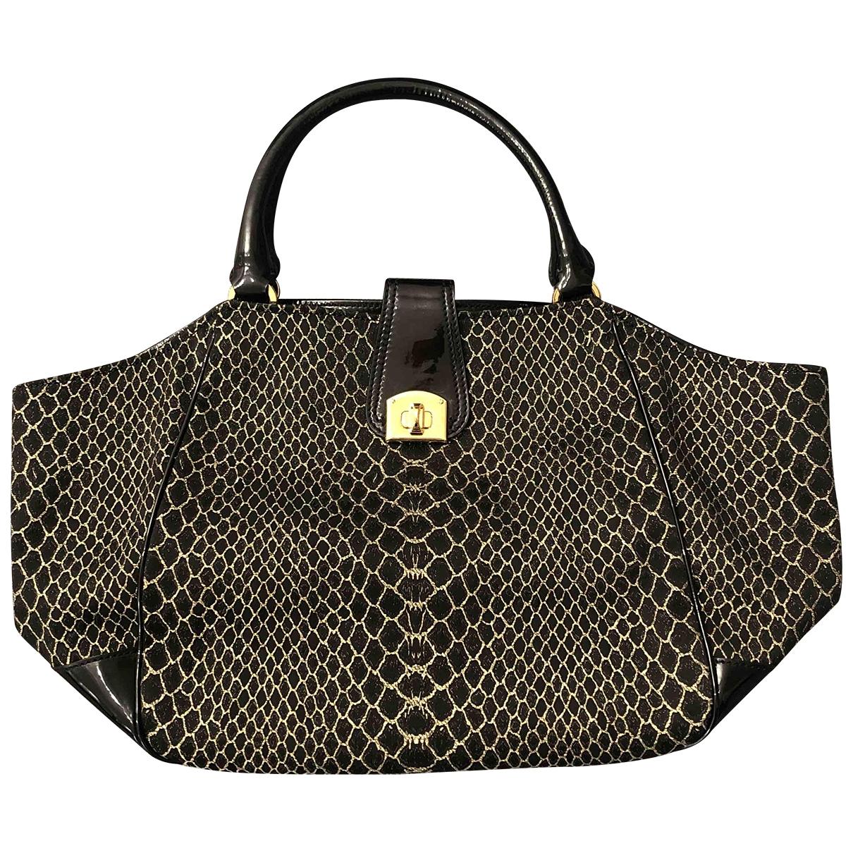 Sergio Rossi \N Handtasche in  Schwarz Lackleder