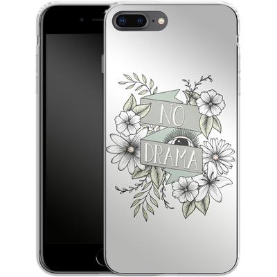 Apple iPhone 7 Plus Silikon Handyhuelle - No Drama - Green von Barlena