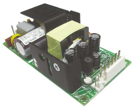 EOS , 60W Embedded Switch Mode Power Supply SMPS, 5.1V dc, Open Frame, Medical Approved