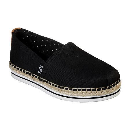 Skechers Bobs Womens Breeze - New Discovery Slip-On Shoe, 6 Medium, Black