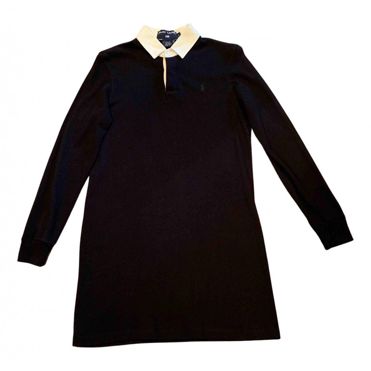 Polo Ralph Lauren \N Kleid in  Schwarz Baumwolle
