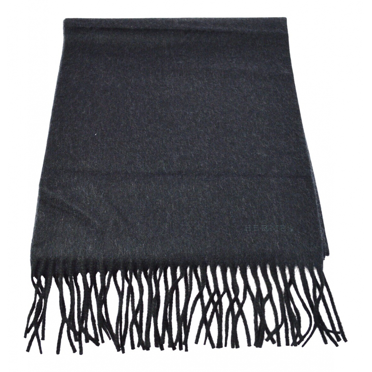 Hermès \N Grey Cashmere scarf for Women \N