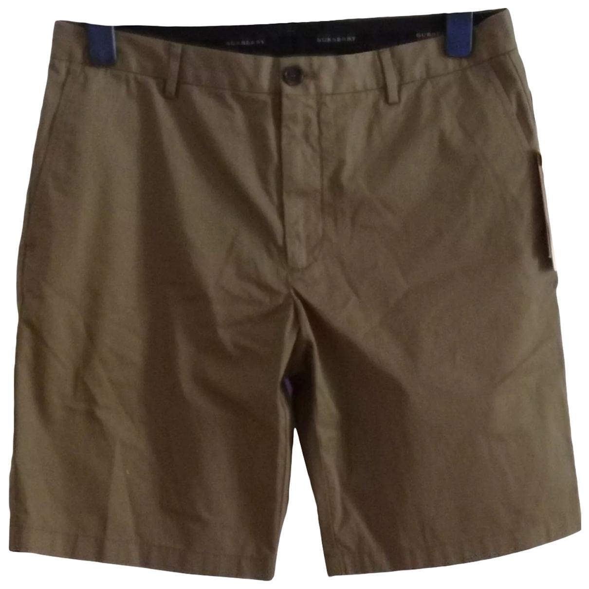 Burberry \N Shorts in  Khaki Baumwolle