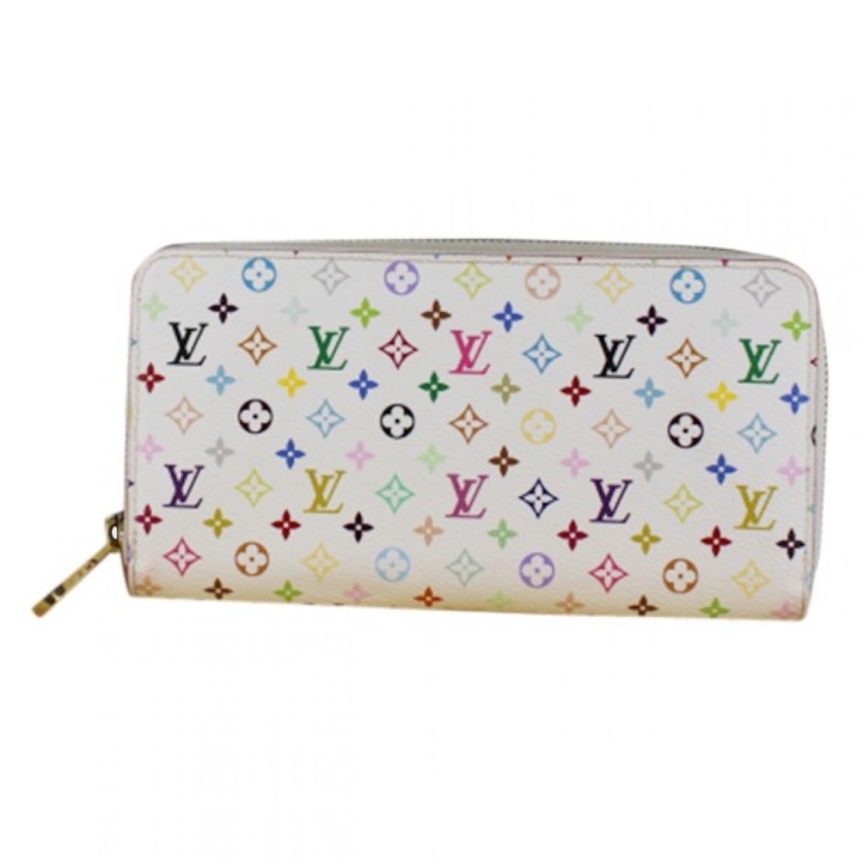 Louis Vuitton - Portefeuille Zippy pour femme en toile - blanc