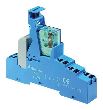 Finder , 24V dc SPDT Interface Relay Module, Push In Terminal , DIN Rail