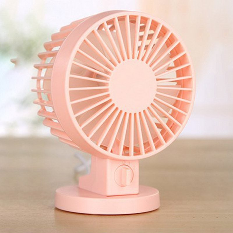 Cute and Quiet Mini USB Strong Airflow Portable Fan for Desktop Office Table