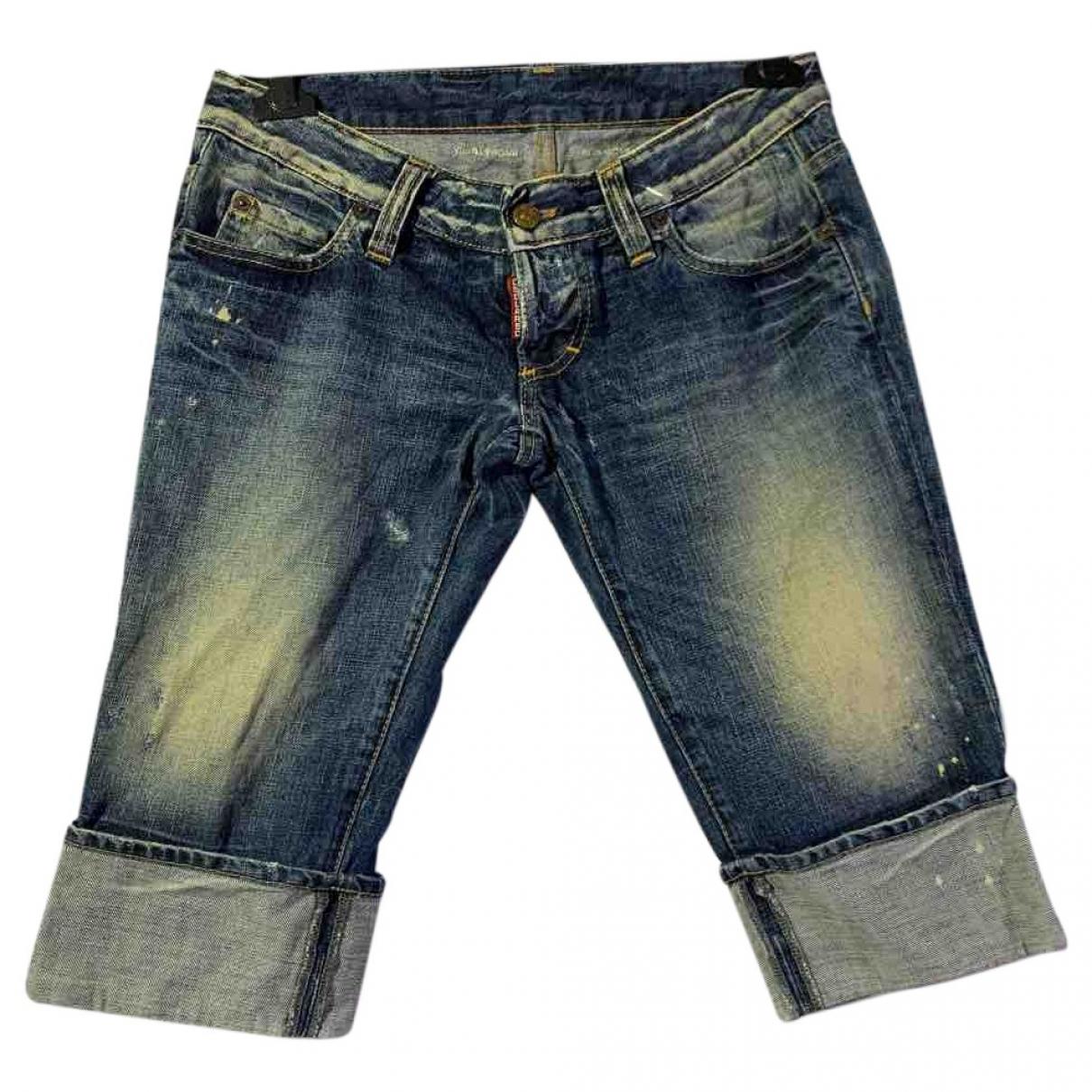 Dsquared2 \N Blue Denim - Jeans Shorts for Men 44 IT
