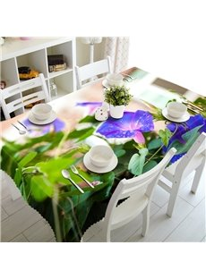 Gorgeous Natural Morning Glory Prints Design Washable 3D Tablecloth