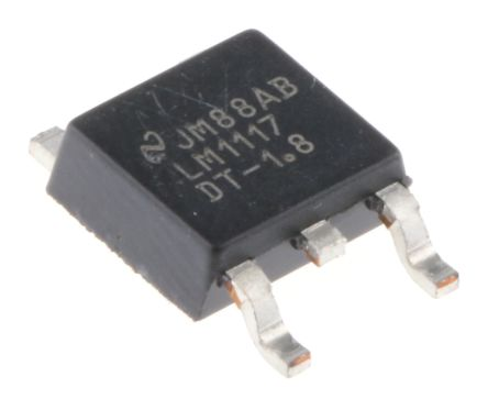 Texas Instruments LM1117DT-1.8/NOPB, LDO Regulator, 800mA, 1.8 V, ±1% 3-Pin, DPAK (5)