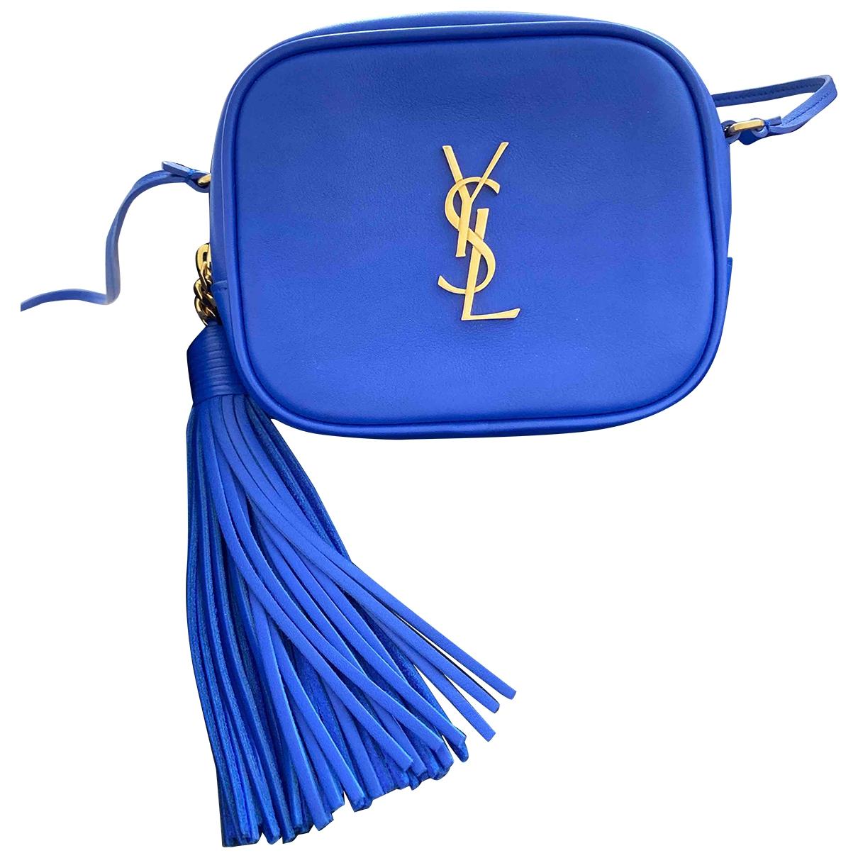 Saint Laurent Blogger Blue Leather handbag for Women \N